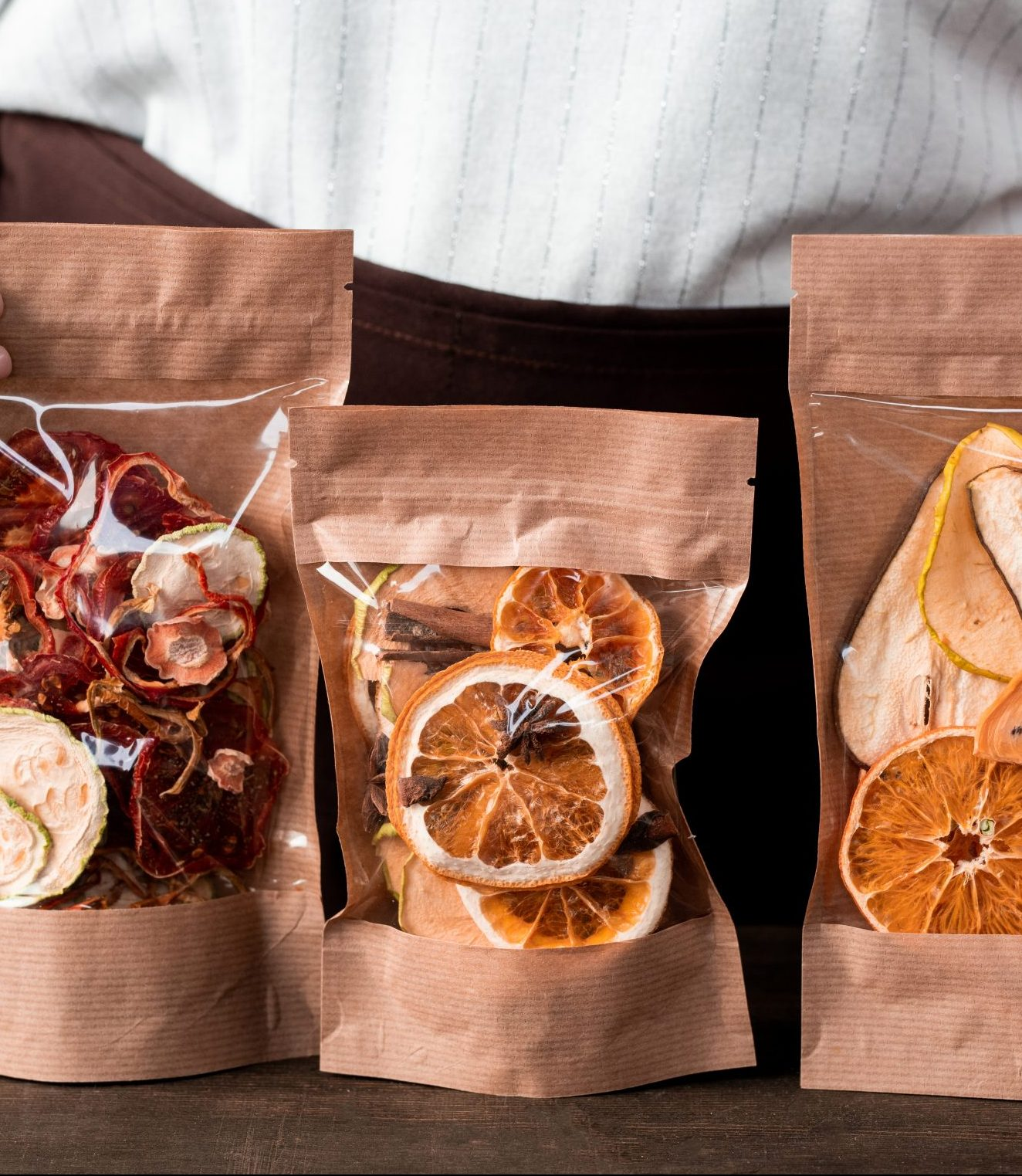 c-store packages of sweet dried fruit
