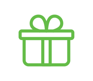 branded packaging gift icon