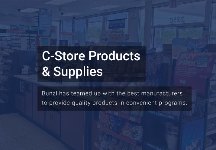 Bunzl C-Store Products and Supplies